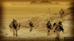 Army Desktop Wallpaper of an Afghan Patrol