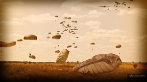 Airborne Desktop Wallpaper of Parachuting Soldiers