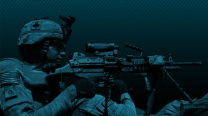 Army Desktop Wallpaper of a Machine Gunner
