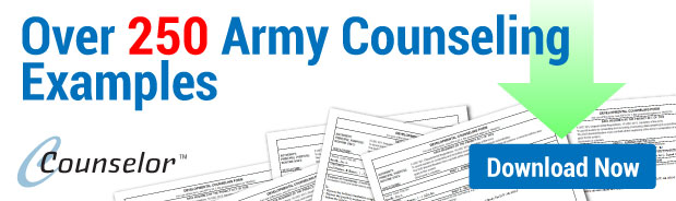 army counseling program - includes over 250 counseling examples