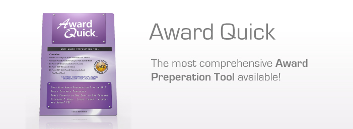 Award Quick - Army Award Writing Tool