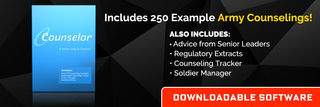 Counseling Statements Included Army Counseling Online